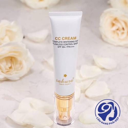 Sakura CC Cream Complete Whitening Day Flawless Control Base