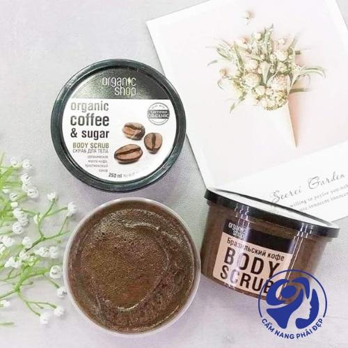Organic Shop Body Scrub Natural Brazilian Coffee and Sugar
