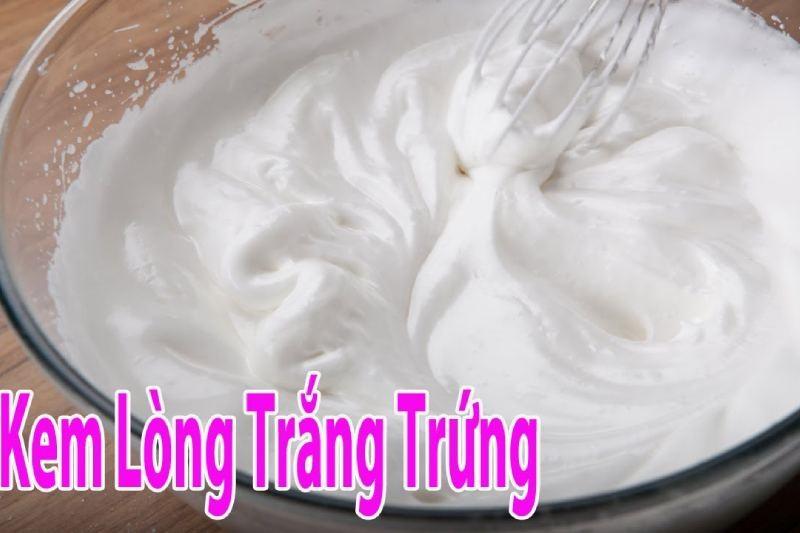 cách làm whipping cream từ lòng trắng trứng
