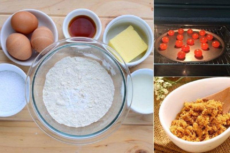 nguyên liệu làm bánh bông lan trứng muối