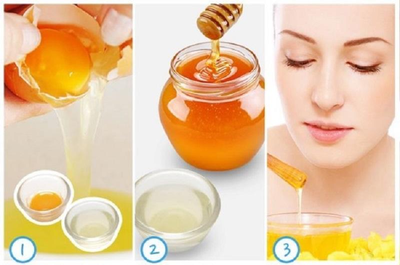 trị nám với trứng gà và mật ong