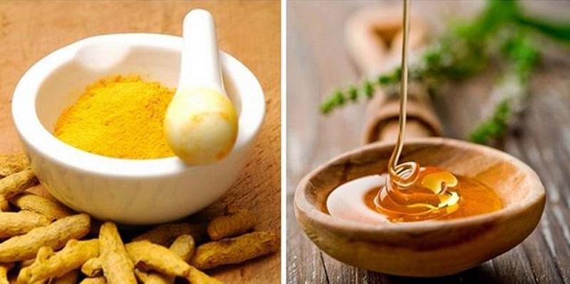 nghệ tươi và mật ong trị sẹo