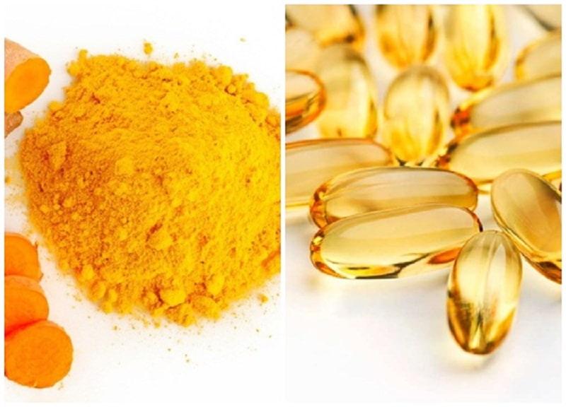cách trị sẹo rỗ bằng vitamin E và tinh bột nghệ