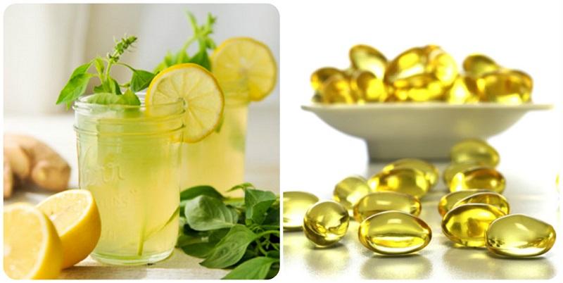 Vitamin E và chanh tươi trị sẹo rỗ