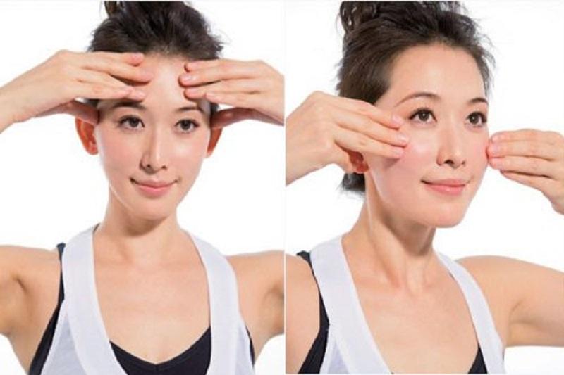 cách xóa nếp nhăn trên da mặt qua massage