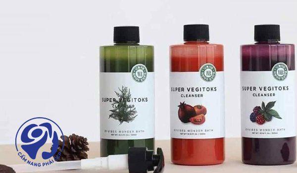 sữa rửa mặt thải độc rau củ super vegitoks 3