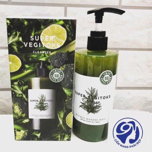sữa rửa mặt thải độc rau củ super vegitoks 5