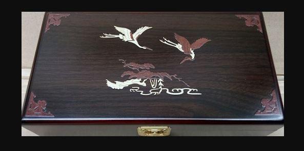 An Cung Ngưu Hoàng Hoàn hộp gỗ màu nâu Hàn Quốc