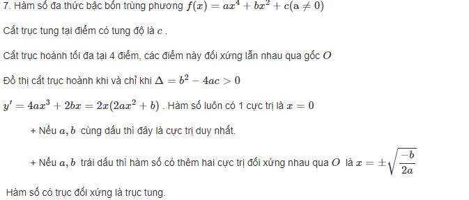 cách phân biệt các dạng đồ thị hàm số