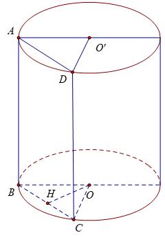 một số bài toán diện tích hình trụ tròn
