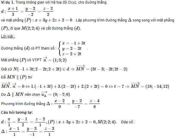 tổng hợp kiến thức lý thuyết phương trình đường thẳng trong không gian và các dạng toán liên quan đường thẳng khác